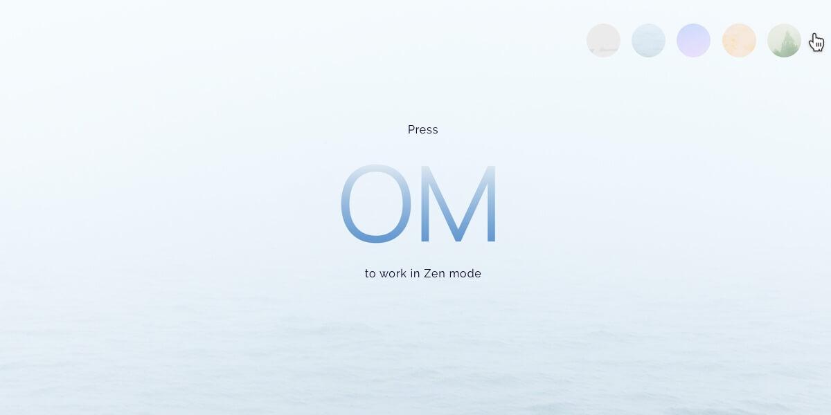 Distraction-free Zen mode